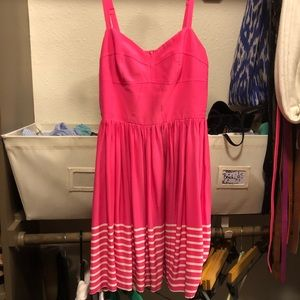 100% silk bright pink dress